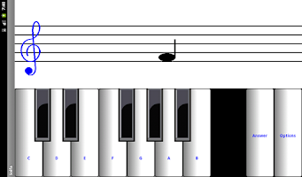 Screenshot of Learn sight read music notes ¼