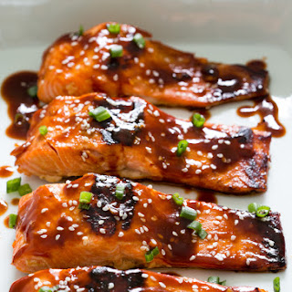 Honey Sriracha Salmon.