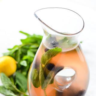Blackberry Honey Ginger + Mint Lemonade