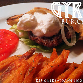 Gyro Burgers with Tzatziki
