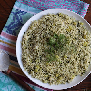 Persian Style Dill Rice.