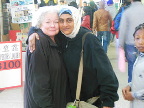 Photo: Leslie met this woman at Waka's Sweets (actually a curry shop) and they ran into one another later