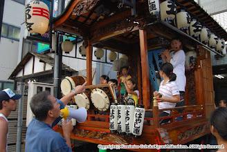 Photo: 【平成19年(2007) 宵々宮】 山車の上での演舞・動きの確認を行う。