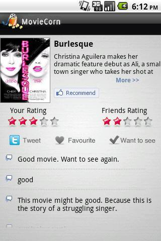 MovieCorn screenshot 2
