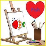 可愛海洋魚類畫 icon