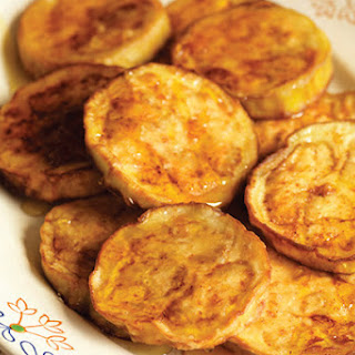 Eggplant Fritters with Honey.