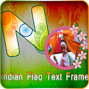 India Flag Letter photo frames: Independence day icon