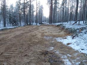 Photo: Hossa 29.11.2011. Talviten ura on hakattu ja maastoa tasoitettu. Kuva: Lea Vainio.