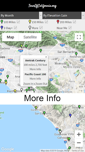TourOfCalifornia.org: California Bicycle Rides screenshot 3