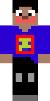 Classic Steve skin with a super creepy smile. have your friends leave the server with this skin.