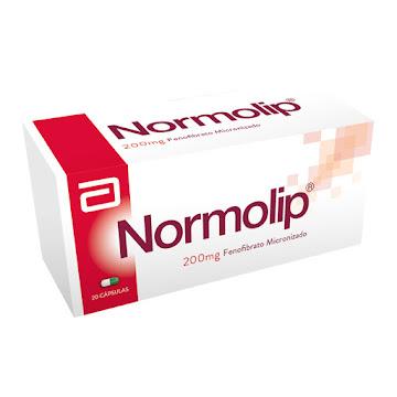 **Normolip 200mg Cápsula   Caja x20Cap. Synthesis Fenofibrato Micronizado