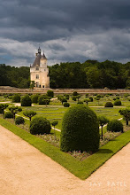 Photo: Witch's Tower, Chenonceau Castle, France#Photographyworkflow, #howtophotograph Question: Did you notice the various use of the composition rules in this image?Here is a photograph from Chenonceau Castle in France. The castle itself is very photogenic, but I was more interested in the tower located several yards from the castle. The perfectly maintained gardens provided a great foreground.How was this photograph created?This photograph is all about timing. I had to wait until the foreground and the castle were lit up while the background was covered by storm clouds. +Varina Patel and I spend all day at this castle waiting for perfect cloud formations as the storms were rolling through the area. The final image is manual blend of a single RAW image processed twice.Enjoy & Share.__