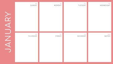 Bold Weekly - Weekly Calendar template