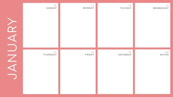 Bold Weekly - Calendar Template
