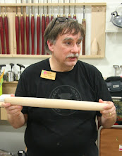 Photo: And here's Tim with his maple French rolling pin.