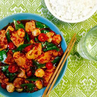 Roast Duck Stir Fry with Lychees & Thai Chilli Jam