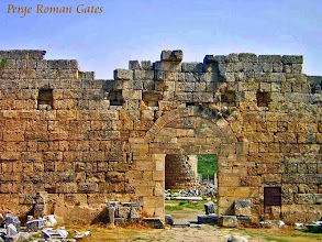 Photo: Perge - Roman City Gate and Hellenistic Gate behind it