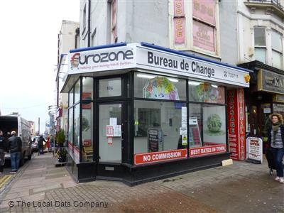 Eurozone on western road bureaux de change in city centre