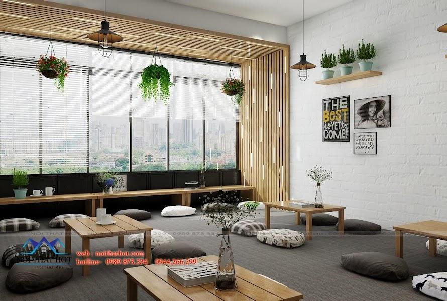thiết kế quán cafe ấm cúng êm ái