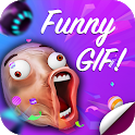 Funny Gif Stickers For WhatsApp icon