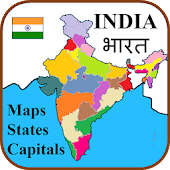 India States, Capitals, Maps - Hindi भारत का नक्शा Android APK Download Free By Perfect Squares