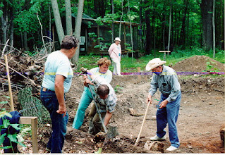 Photo: Family and friends helped dig the foundations by hand