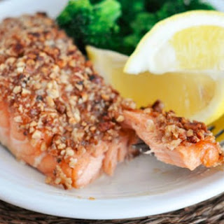 Pecan Maple Crusted Salmon
