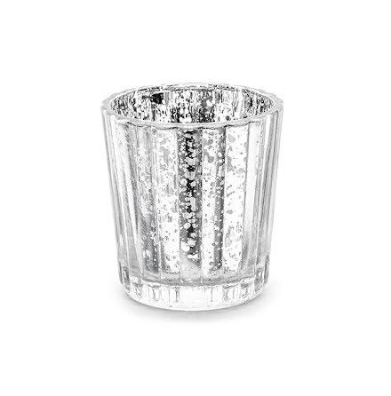 4-pack ljuslyktor - silver, 6 cm