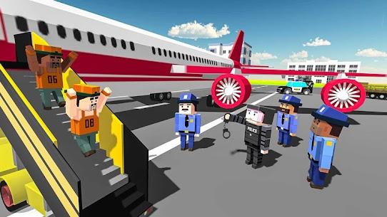 Blocky Vegas Crime Simulator:Prisoner Survival Bus 9
