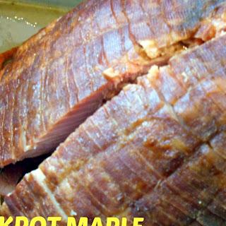 Crockpot Maple Brown Sugar Ham.
