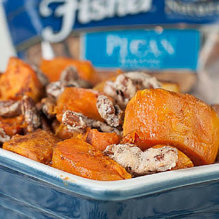 Roasted Sweet Potatoes with Candied Pecans