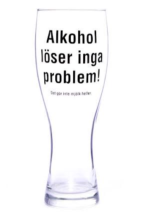 Ölglas - Alkohol löser inga problem