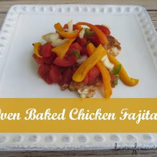 Oven Baked Chicken Fajita Recipe - Low Calorie