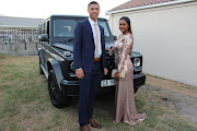 Zayan Abrahams and her partner Cody Waldegrave with Proteas bowler Dale Steyn's G-Class Mercedes-Benz. The cricketer gave the couple a lift to their matric dance.