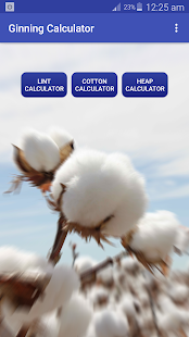 Cotton Ginning Calculator - náhled