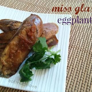 Japanese Miso Eggplant (vegan).