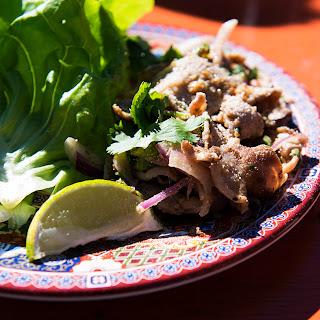 Malaysian Pork Lettuce Wraps (Pork Laab)