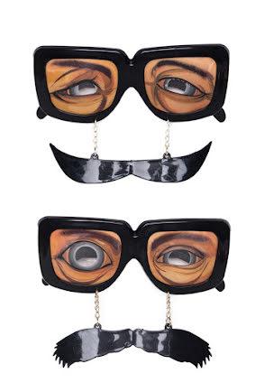Glasögon med mustasch