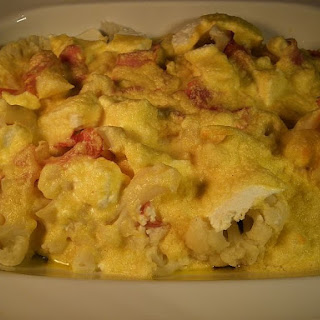 Oven Cauliflower with Ricotta Cheese Prosciutto and Cream (Pastella) Recipe
