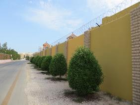 buiten muur van Las Dunas