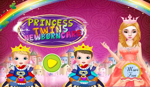 新生雙胞胎遊戲的女孩