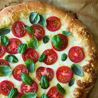 Four Cheese Caprese Pizza.