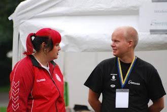 Photo: Stephanie Dellinger, Denmark and Marcus Larinen, crew. Photo: Patric Fransson