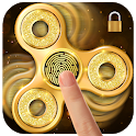 Golden fidget spinner&fingerprint locker for prank icon