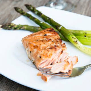 Whiskey Ginger Grilled Salmon.
