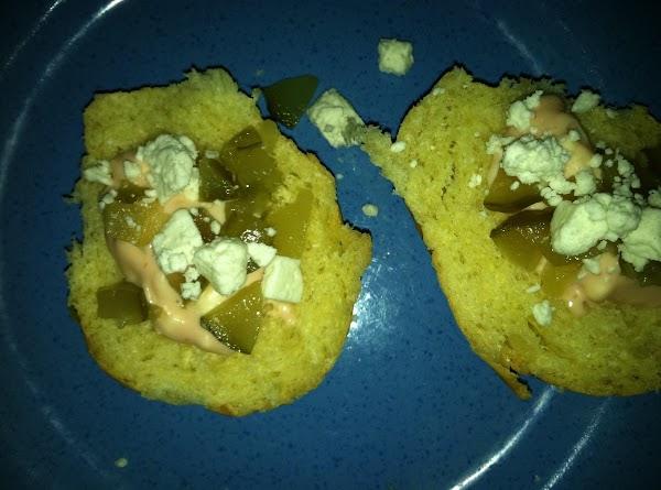 Sprinkle each bun half with feta cheese.