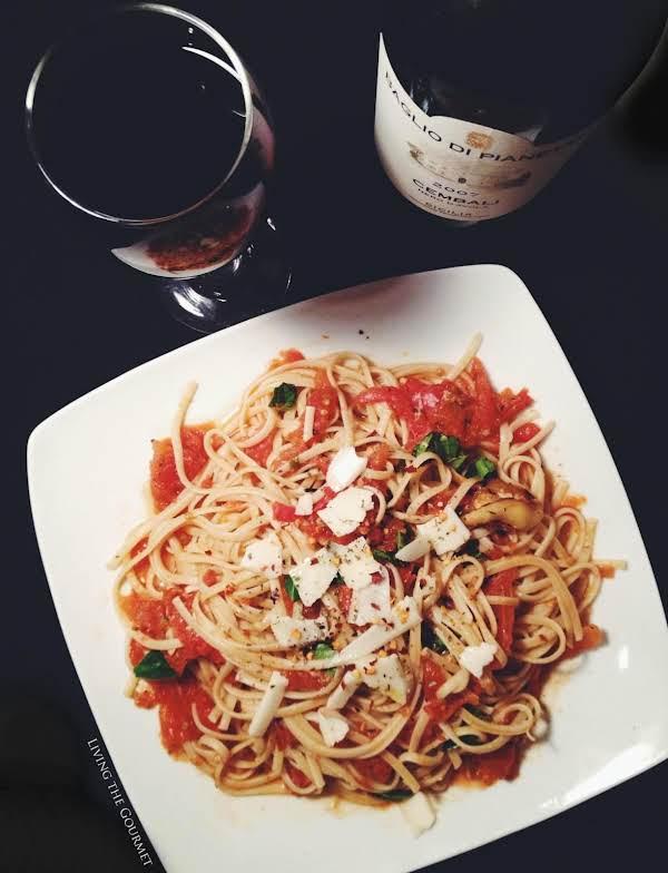 Fresh Tomato Sauce W/ Sautéed Zucchini & Spaghetti Recipe
