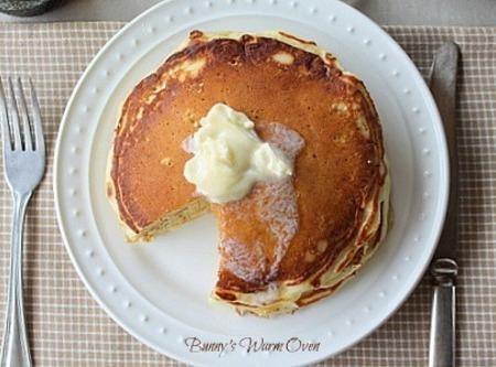 Fluffy, tall, soft homemade buttermilk pancakes, does it get any better than this! I...