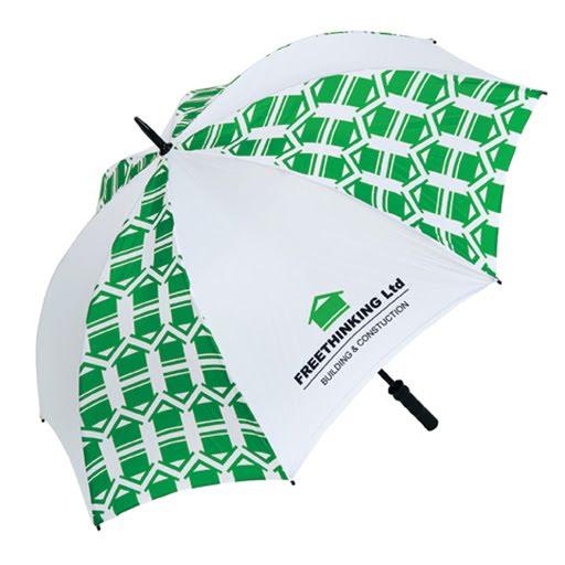 Classic Golf Umbrella Dark Green/Light Green & White