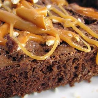 Caramel Pretzel Brownies.